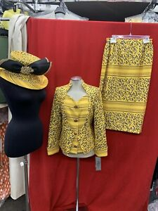 TALLY TAYLOR  SKIRT SUIT/NEW WITH TAG/SIZE10/RETAIL$299/SKIRT 32/hat not include