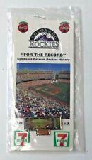 Colorado Rockies 1994 For the Record Lapel Pin Series Pin #7  7Eleven Coca Cola