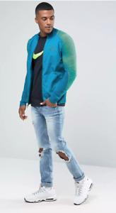 Nike Tech Fleece Varsity Jacket 828476 301 Aqua Blue/Green New Men's Size 2XL