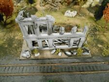 HO Roco Minitanks Custom Detailed WWII Bombed Building Weathered #DP191