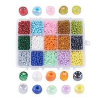 5850pc/Box 6/0 Glass Seed Beads Pony Round 15-Color Smooth Luster Loose Bead 4mm