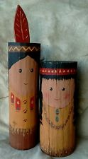 Very Cute Indian Boy & Girl Navajo Folk  Art  by Margie Etsitty