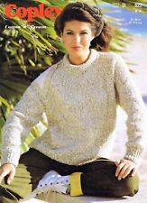 Lady Homme Pull Taille 81-117 cm 32-46 in Copley 622 VINTAGE KNITTING PATTERN