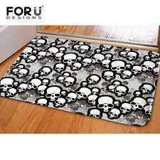 Skull Anti-skid Flannel Area Rug Modern Living Room Carpet Comfy Bedroom Floor