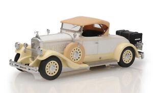 Esval Models Ltd Ed 1930 Pierce Arrow Model B Rdstr Top Up White 1/43 Resin NIB