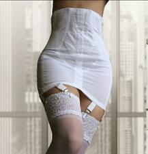 RETRO GLAMOUR FIRM shapewear RAGO 1294 White GIRDLE 6 strap Made in the USA