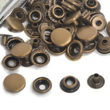 Antique Brass 15mm 15/50 Set Long Post Leather Craft Snap Fasteners Press Stud