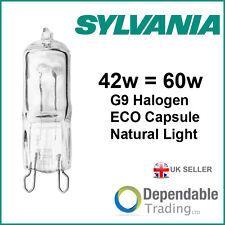 1x SYLVANIA HI-PIN G9 ECO 42w = 60w Cápsula Halógena Bombilla - Natural Luz