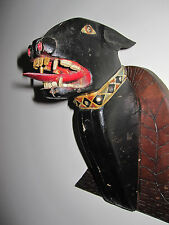 ANTIQUE AMERICAN FOLK ART PITBULL DOG MASTERPIECE JEWEL COLLAR ORIGINAL PAINT
