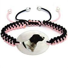 Natural Shell Adjustable Knot Bracelet Bs216 Dutch Partridge Dog Mother Of Pearl