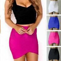 Elastic Pleated Skirt High Waist Bodycon Skirt Mini Skirt Short Pencil Skirt