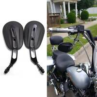 Motorcycle Rear View Side Mirrors For Harley Davidson Road King Touring Fatboy F