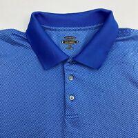 Lone Cypress Polo Shirt Men's Size 2XL XXL Short Sleeve Blue Striped Performance