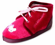 CHAUSSONS CHAUDS PANTOUFLES 30 velours rose souris lacets BABYBOTTE fille NEUF