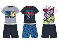 Boys Shortie Pyjamas Justice League Minion Turtles 2 3 4 5 6 7 8 9 10 age Cotton