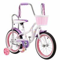 "Girls Schwinn Bicycle 16"" Wheel Learning Bike w/Sissy Bar, Basket and Streamers"