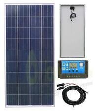 150w Poly Solar Panel Battery Charging Kit Charge Controller Boat Caravan HomeK1