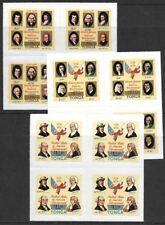 Tonga 1978 USA Bicentennial #C233, C236, C237 BLOCKS VF-NH CV $103.00