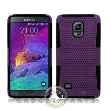 Samsung Galaxy Note 4 Hybrid Mesh Case Purple/Black Cover Shell Protector Guard