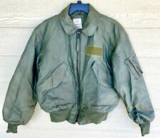 USAF GREEN NOMEX FIRE RESISTANT COLD WEATHER FLYERS JACKET CWU-45/P - MEDIUM