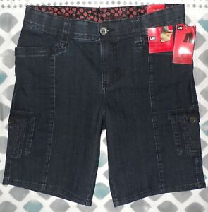 """NWT"" LEE Comfort Fit  Walk Denim Bermuda Shorts Women's Sz 10 Medium~Blue -$50"
