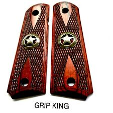 1911 Grips,Sale $39.73,Texas,Shiny Silver Stars, Fits Colt,Sig,Ruger, & Clones,