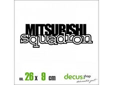 MITSUBISHI SQUADRON XL 2191 // Sticker JDM Aufkleber Frontscheibe
