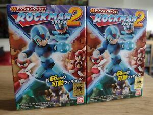 Bandai 66 Rockman 2 Megaman & Cutman Figures