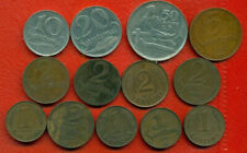 LATVIA LETTLAND SET OF 13 COINS 1,2,5,10,20 AND 50 san. 1922-39s 1168
