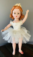 "Rare 1951 Madame Alexander Redhead Nina Ballerina 14"" doll In Tagged Outfit"
