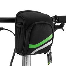 RockBros Black Bike Handlebar Bag Bicycle Basket Bag with Crossbody Belt Black