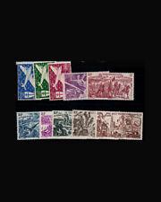 VSM:FRENCH W AFRICA 1945-46 OG,LH SCT# C1-C10 $ 25.50 LOT# VSAFWAFR1945N-B90