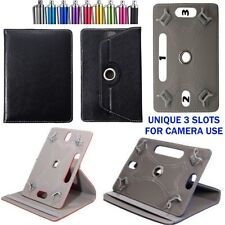 """360° Rotating Case Cover Stand For TESCO HUDL ONE 7"""" Inch Tablet with Free Pen"""
