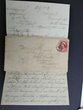 Vermont: Ely (#1) 1873 Cover to Prince Edward Island + Letter, Dpo Orange Co