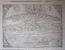 1568 CREATION OF THE EARTH creazione del Mondo Cosmographia universalis Munster