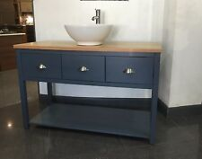 luxury 140  Vanity Wash Stand Unit 3 Softclose Drawers Bathroom Cabinet, Painted