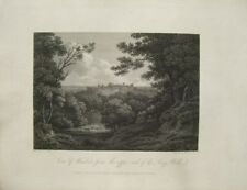 View of Windsor from the upper end of the Long Walk  (published Jan.1,1803)
