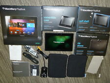 BLACKBERRY PLAYBOOK TABLET Bundle 32GB Official Cases Shell Convertible HDMI Box