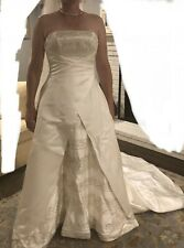 CB Couture Ivory/gold Wedding Dress Size 14 Professional Dry Clean, with Veil