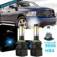 9006 HB4 LED Headlight Kit Plug/&Play 6K for 2002-2019 DODGE Ram 1500 Fog Light