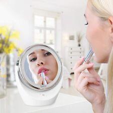Miroir Maquillage Double Face LED Grossissant avec Rotation 360 Cosmétique Soin