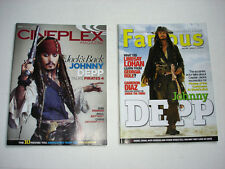 JOHNNY DEPP on cover magazine LOT of 2 FAMOUS 2007 Cineplex 2011