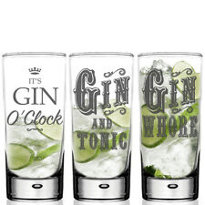 HighBall Gin & Tonic Glass - Personalised For G&T Lovers Mixer Glass -GIFT BOXED