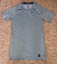 Nike Pro Combat Xxl Fitted Short Sleeve Shirt in Gray Dri Fit 2Xl Xxl