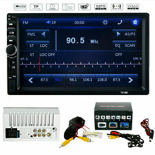 """7"""" MP5 FM Player Bluetooth Car Stereo Radio Double 2 DIN HD Touch Screen USB"""