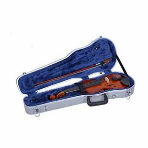 Crossrock 1/4 Violin Case-Backpack Style in Silver CRA800SVQSL