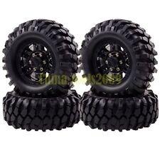 4P RC 1:10 Rock Crawler 1.9 Beadlock Wheels & 96MM Tires Black Gmade D90 SCX10