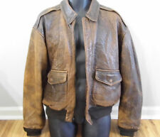 Mens Vtg Distressed AVIREX A-2 U.S Army Air Force Flight Bomber Jacket L