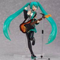 New in Box 14CM Guitar Hatsune Miku PVC Action Anime Figure Toy Figma 200
