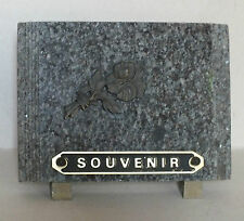 Plaque Funeraire - Souvenir - En Granit Gris  *